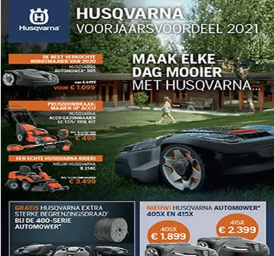 Brochure met Voorjaars voordelen 2021